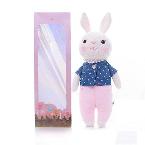 欧米で大人気 Metoo (ミートゥー) キュートすぎる ぬいぐるみ Tiramitu(ティラミス) バニー ウサギ おもちゃ 12 インチ (ブルー)