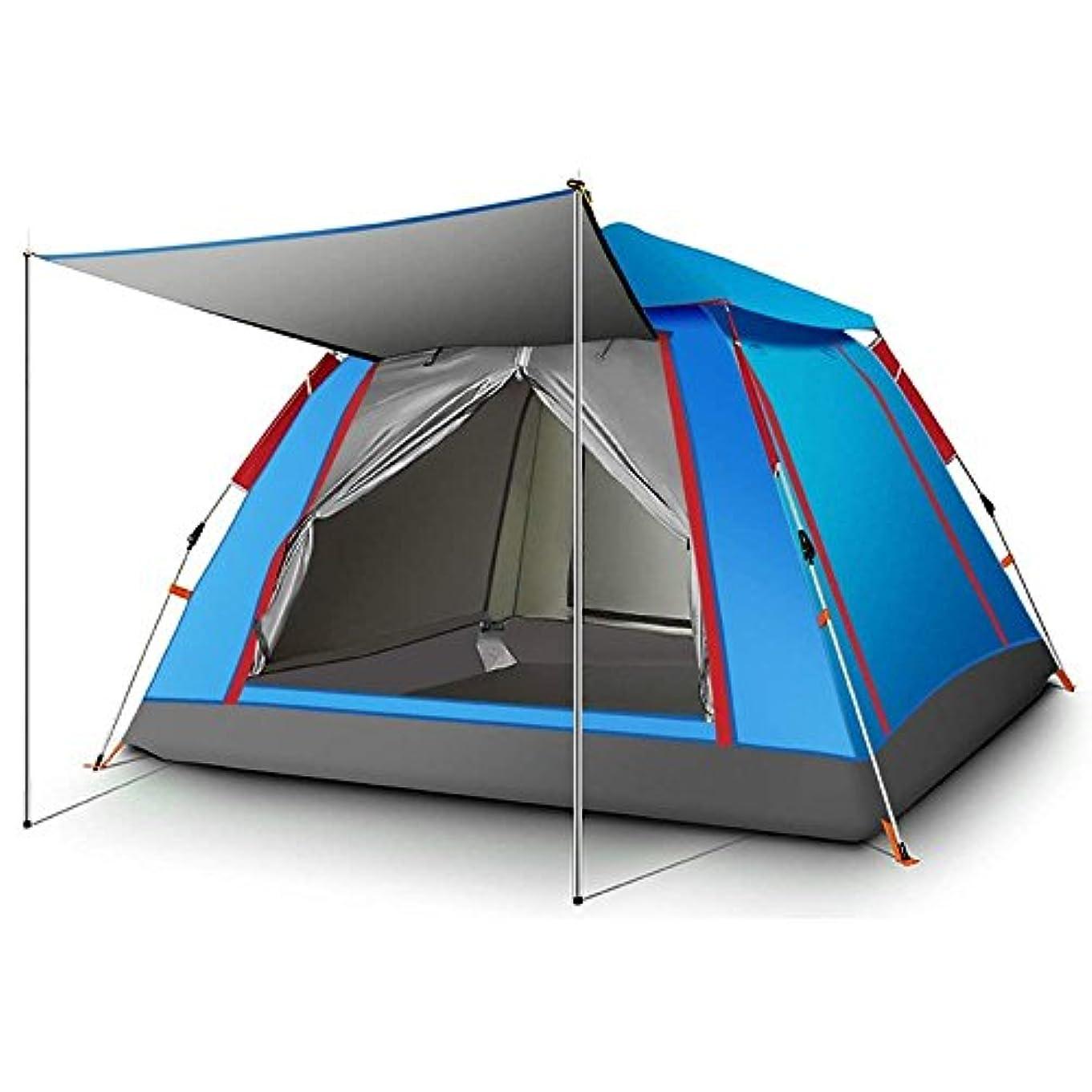 所得専門知識爪5W ワンタッチテント 4~5人用 ファミリーテント 紐を引くだけの15秒設営 通気性 設営簡単 軽量 防水 UV カット登山用 耐水圧 3000mm キャンプ用品 アウトドア 4シーズンに
