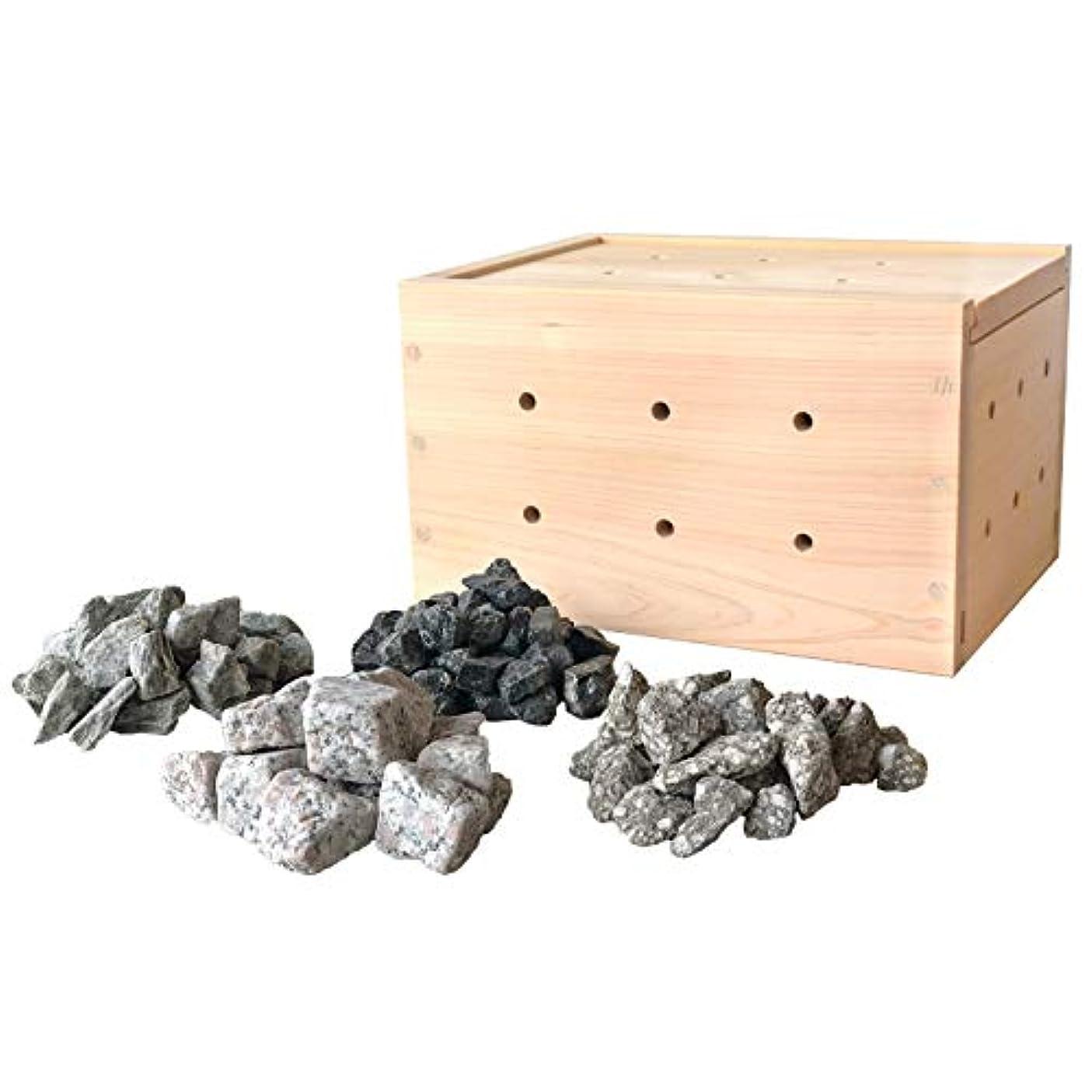 階下戻る記録薬石温浴セット ネット付き【ゲルマニウム トルマリン ラジウム 麦飯石】