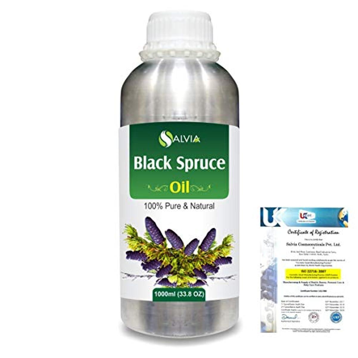 グロー形状捨てるBlack Spruce (Picea Mariana) 100% Natural Pure Essential Oil 1000ml/33.8fl.oz.