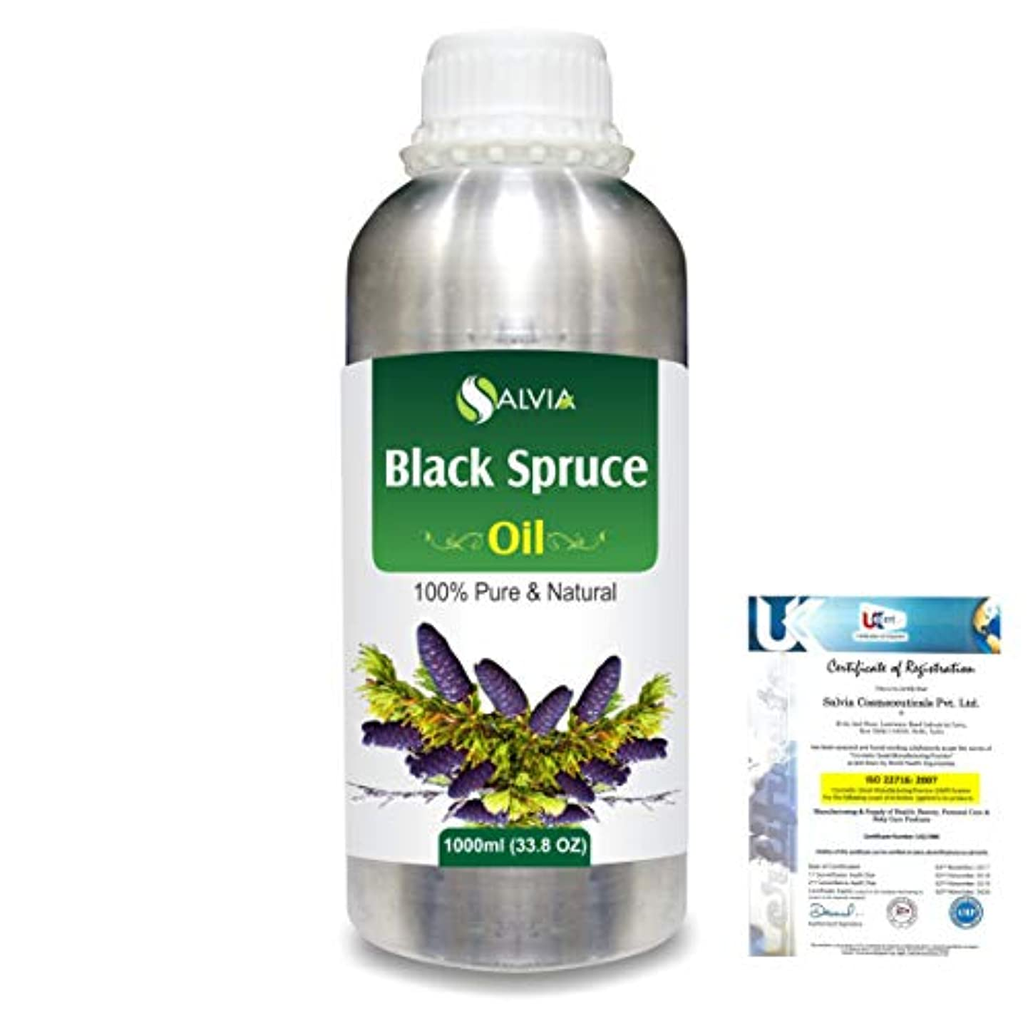 五十何か過半数Black Spruce (Picea Mariana) 100% Natural Pure Essential Oil 1000ml/33.8fl.oz.