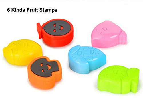 6 Fruits Shape Stamps for Magnetic Drawing Board Kid/Toddlers/Babies