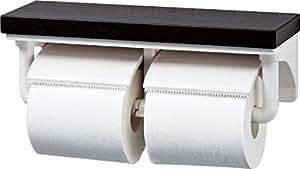 LIXIL(リクシル) INAX 棚付2連紙巻器 クリエダーク CF-AA64KU/LD