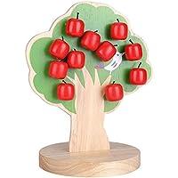 子供のための木製の早期教育玩具磁気アップルツリーの数学パズル子供の手と脳の容量