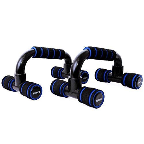 【SIMPS】 プッシュアップバー 腕立て伏せ 腕立てスタンド 肉体改造 筋トレ プッシュアップスタンド (ブルー)