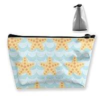 かわいいヒトデ 収納ポーチ 化粧バッグ 大容量 台形 収納袋 小銭入れ 小物用ケース 携帯便利 防水 出張 旅行