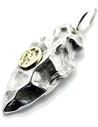 シルバーワン(Silver1)sa ココペリ金メタル矢じり ネックレストップ シルバー925ペンダントトップ メンズ