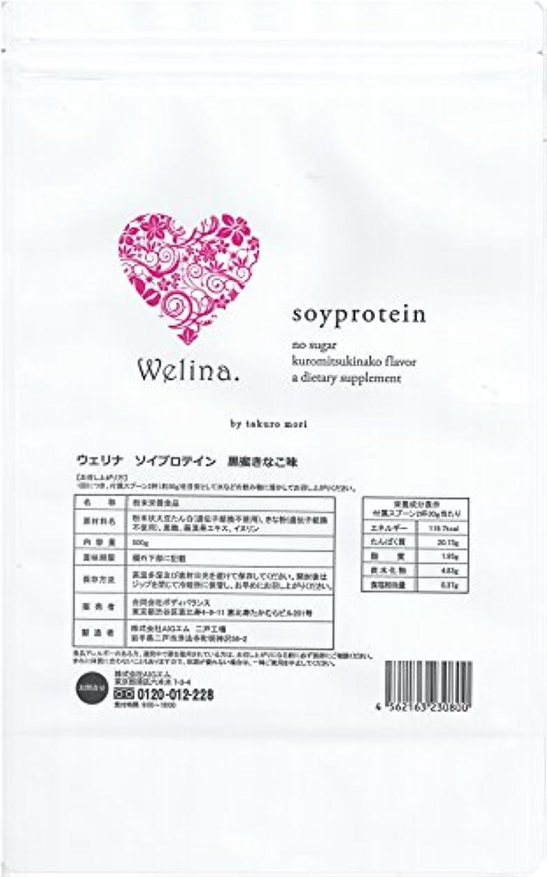 ウェリナ ソイプロテイン 黒蜜きなこ味 500g