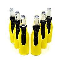 ネオプレンボトルクーラー、ワインクーラーホルダーwith Zipper on Back、ワインガラスCooler, Fits 330mlボトル。
