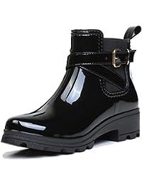[ファーストエンカウンタ] ショートブーツ 無地 防水 レインシューズ 滑り止め 雨靴 短靴サイドゴアショート おしゃれ女性