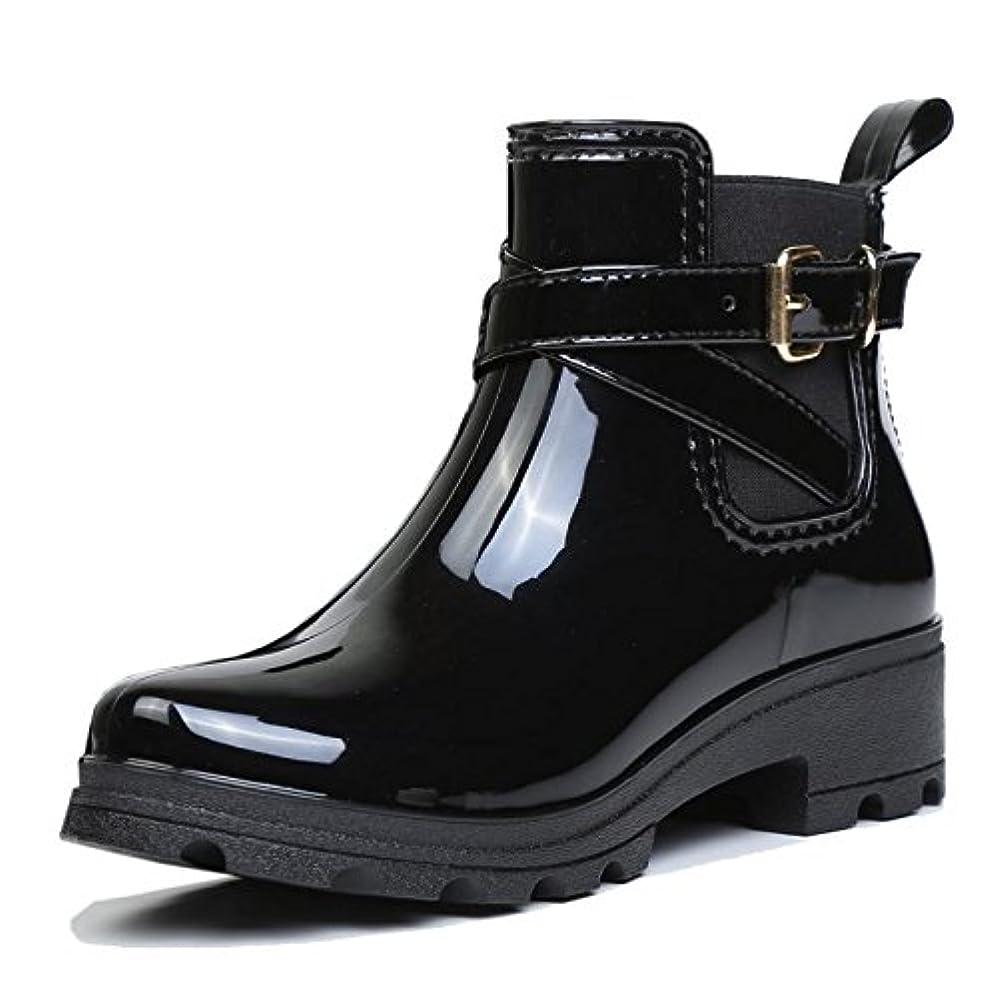 欲求不満ドロップシェフ[ファーストエンカウンタ] ショートブーツ 無地 防水 レインシューズ 滑り止め 雨靴 短靴サイドゴアショート おしゃれ女性