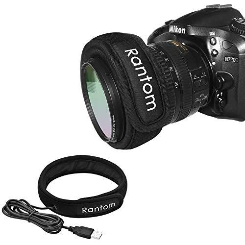 Rantom カメラレンズヒーター 結露対策 USBレンズウォーマー 夜露/霜よけ 一眼レフカメラ/望遠鏡/カップなど対応