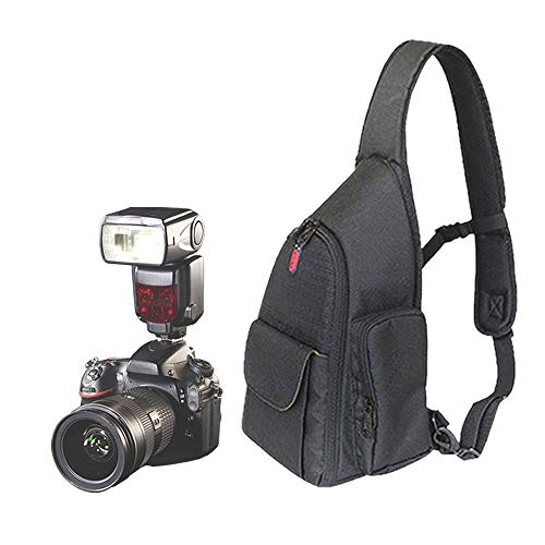 PEAK MOTION カメラバッグ 一眼レフ ミラーレス デジタルカメラケース 一眼レフ用ショルダーバッグ 斜めがけ ボディバッグ カメラポーチ おしゃれ 多機能 大容量 男女兼用 スリングバッグ 撮影 旅行 登山 アウトドア用 カメラショルダーバッグ 衝撃吸収素材 軽量 レインカバー付き 三脚搭載可能 胸部ストラップ付き ビデオカメラケース