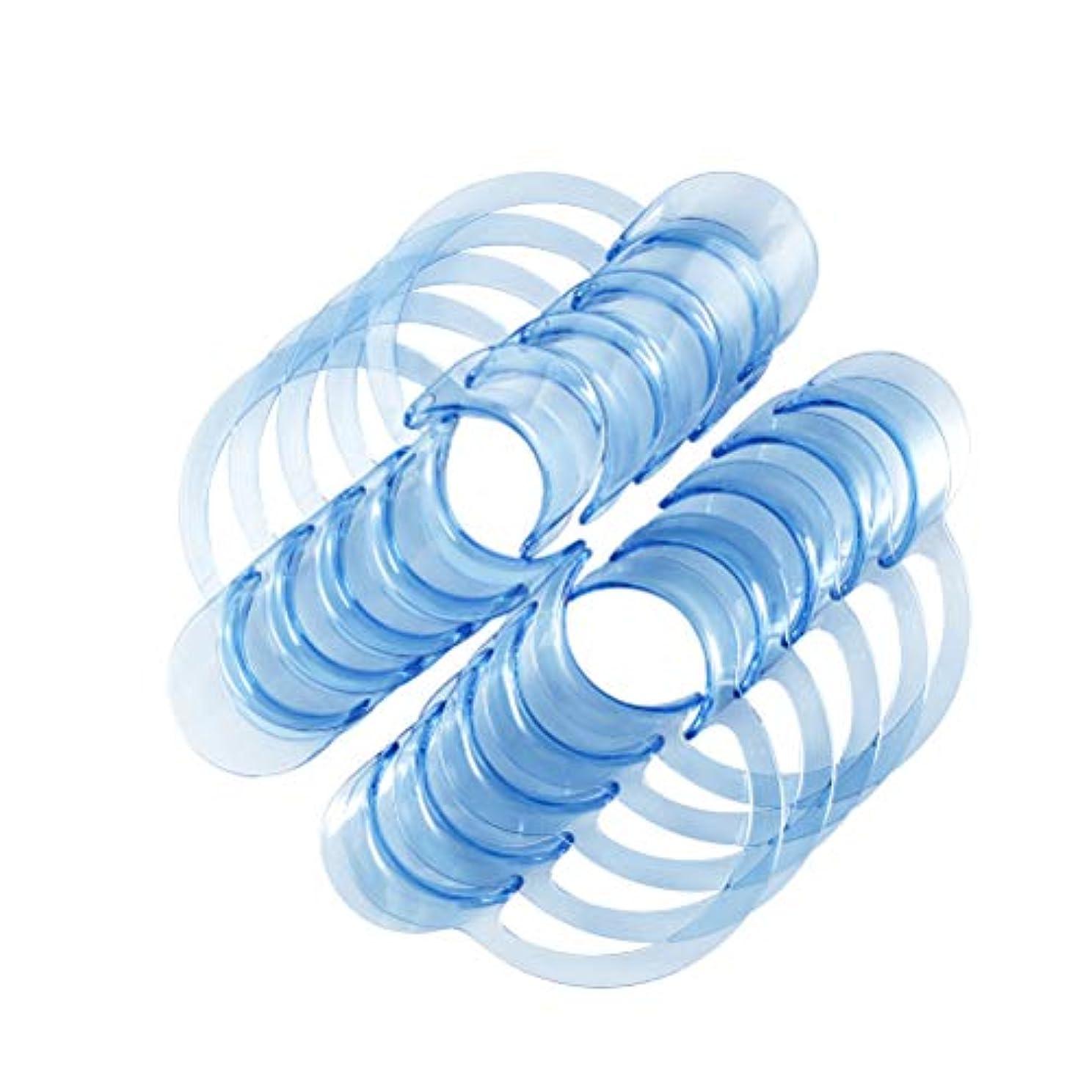 成分連結する絡み合いSUPVOX 30個入りC字型歯科口オープナーマウスガードチャレンジゲームまたは歯科用ホワイト - L(ブルー)