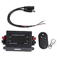 SODIAL(R)LED明るさ調節器チャンネルワイヤレスコントローラ+リモートコントロール