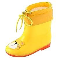 UBELLA レインブーツ キッズ ブーツ ジュニア ボアを取り外し可能 軽量 通気 保温 雨靴 オールシーズン