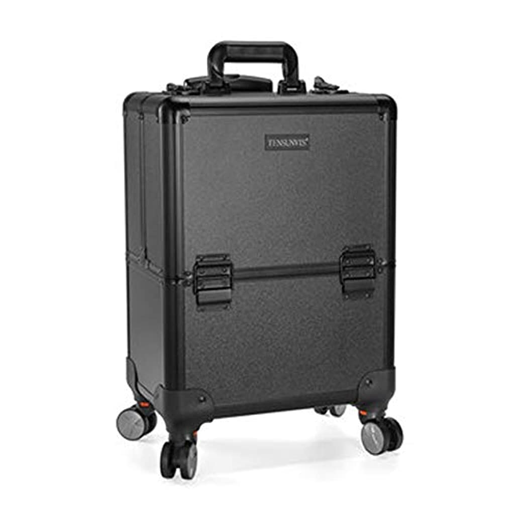 警察寄託つぶすプロ専用 美容師 クローゼット スーツケース メイクボックス キャリーバッグ ヘアメイク プロ 大容量 軽量 高品質 多機能 I-TT-317T-B