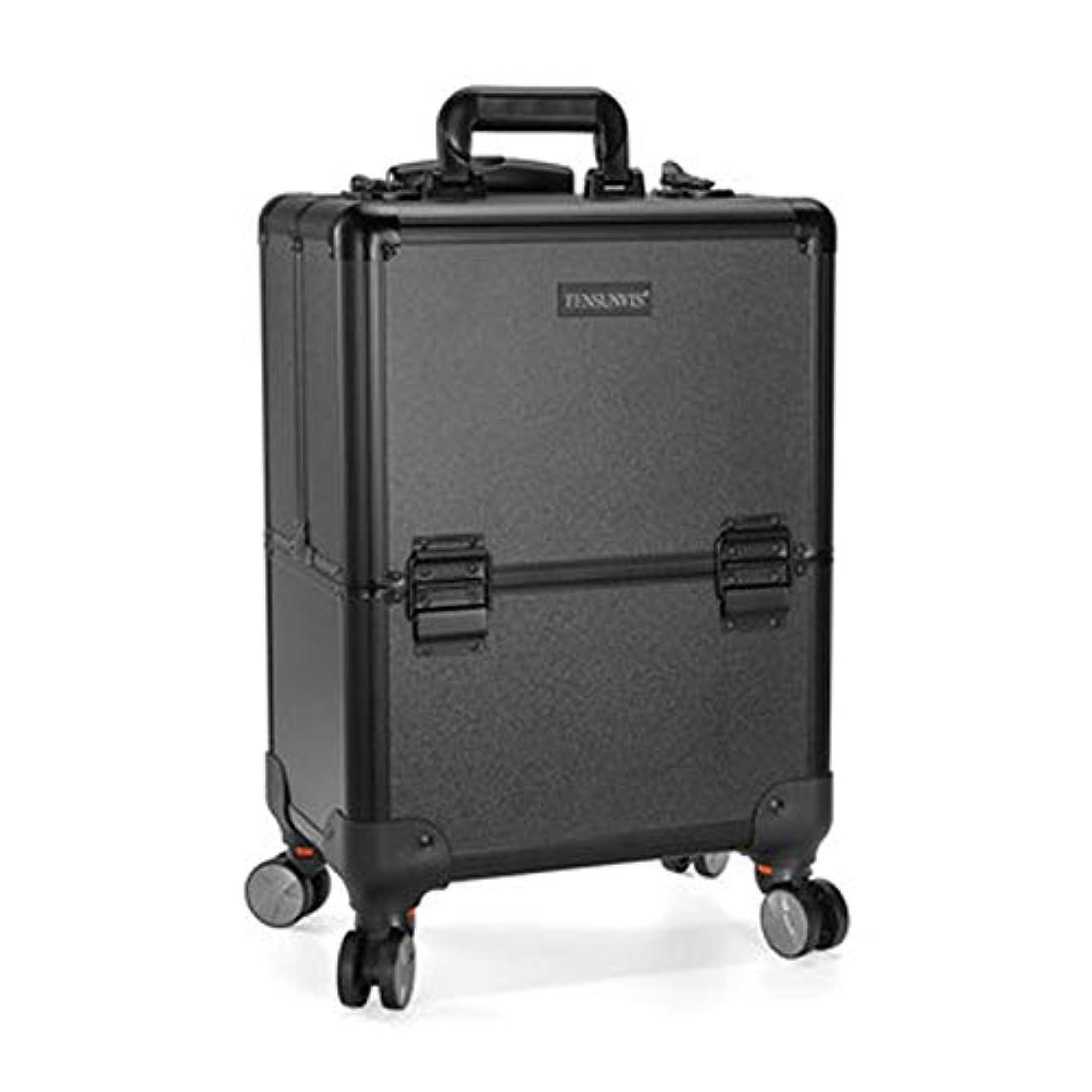 ひばり一般的にキュービックプロ専用 美容師 クローゼット スーツケース メイクボックス キャリーバッグ ヘアメイク プロ 大容量 軽量 高品質 多機能 I-TT-317T-B