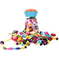 Zooawa Pop Snap Beads Set, DIY Jewelry Creative Kits for Girls Making Necklace, Earings, Bracelets and Rings, [200 Pcs] Crafts  3+ Kids