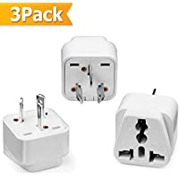 Travel Adapter, WQQ Universal US EU UK to Australia/China New Zealand Grounded Travel Plug Kit Adapter for iPhone, iPad, Samsung, Huawei, Android Phones, Tablets Digital Cameras and More -3 Pack