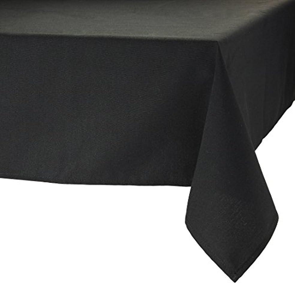 ゼロ自治的異邦人MAJEST(マジェスト) テーブルクロス 長方形170cmx260cm 布地 ブラック 無地 繋なし 吸水タイプ