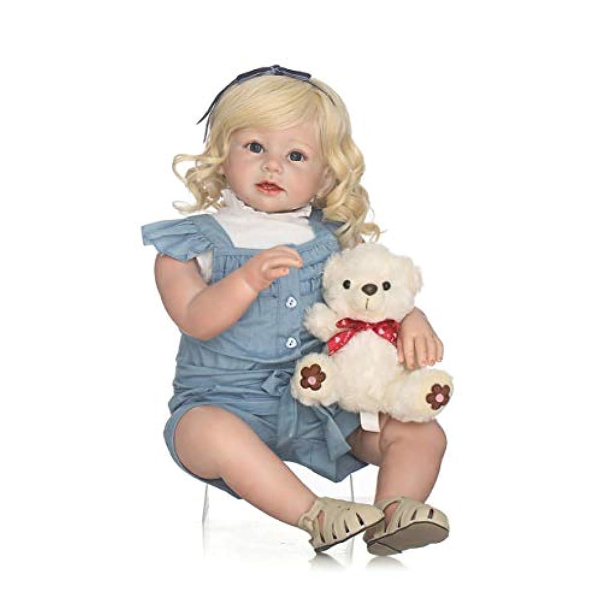 ロック解除構成員司令官28インチフルボディソフトシリコンビニールベビードール無毒で安全なおもちゃ手作りのエレガントリアルな幼児新生児ベビードールおもちゃ-カラフル