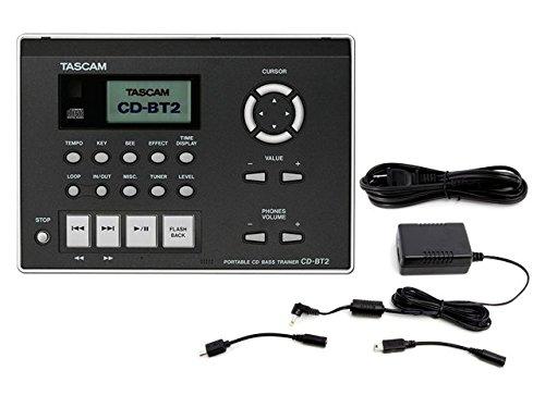 TASCAM CDプレイヤー/ベース・トレーナー CD-BT2 + 純正ACアダプター PS-P520E セット