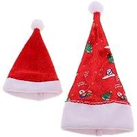 D DOLITY 人形 ミニ サンタクロース ドール 帽子 クリスマス パーティ コスプレ サンタ グッズ 30cmバービー人形に適用