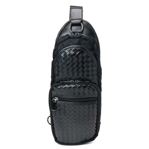 (モンテスピガ) monte SPIGA G9621BK メンズ ボディバッグ/ワンショルダー イントレチャート ブラック