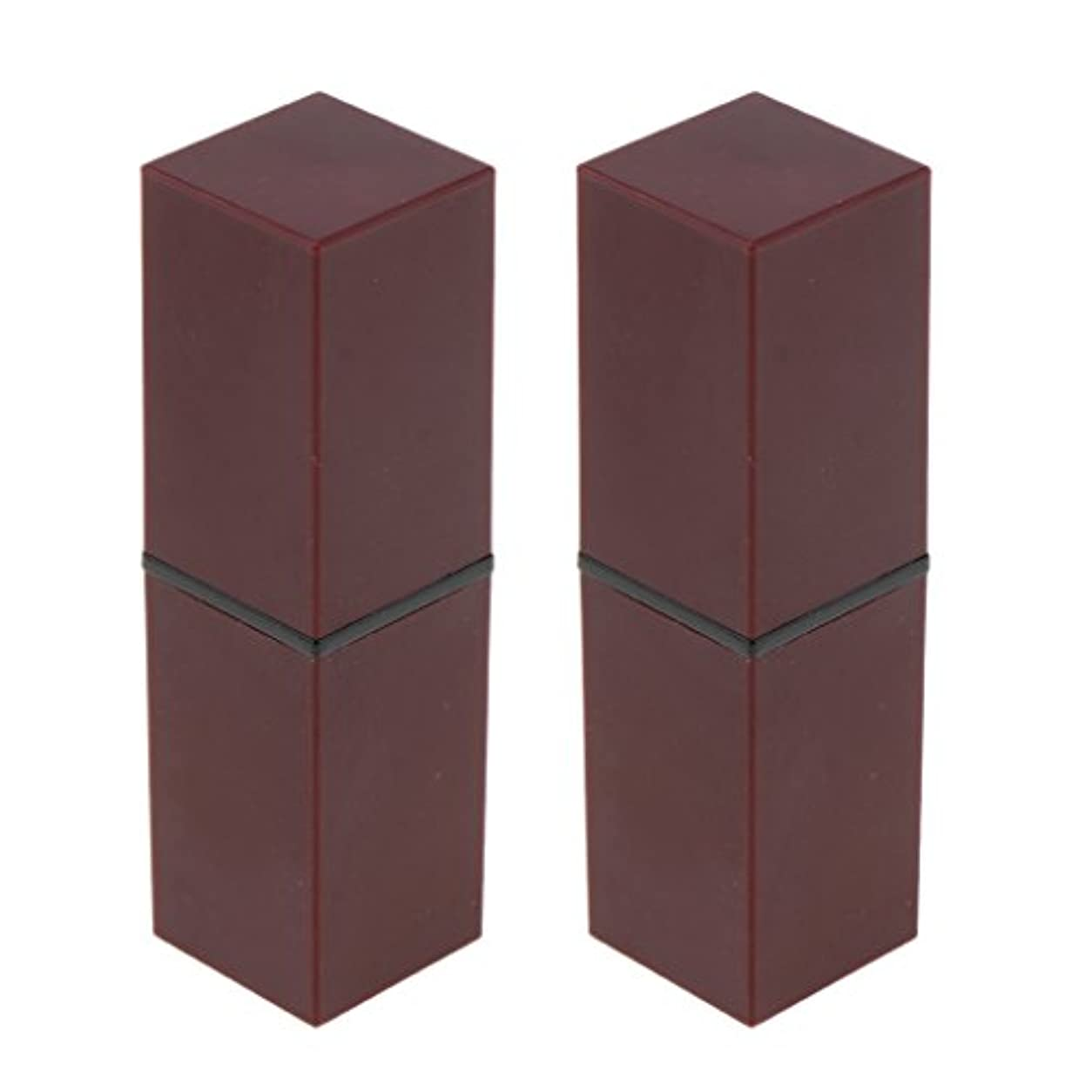 運搬一生言い聞かせるSharplace 口紅 容器 手作り リップスティック リップバーム 口紅チューブ 空チューブ 全4色 - 紫