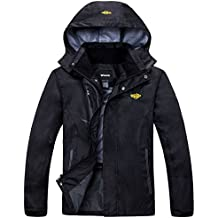 Wantdo Men's Hooded Lightweight Windproof Waterproof Breathable Rain Jacket