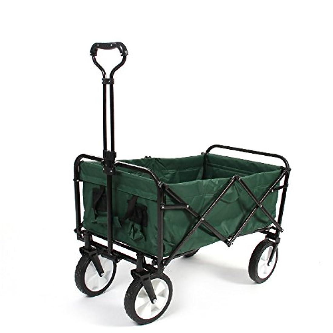 眠いです請う天キャリーワゴン キャリーカート 折りたたみ アウトドア 耐荷重80kg 軽量 頑丈 グリーン アウトドアワゴン 緑 △_83170