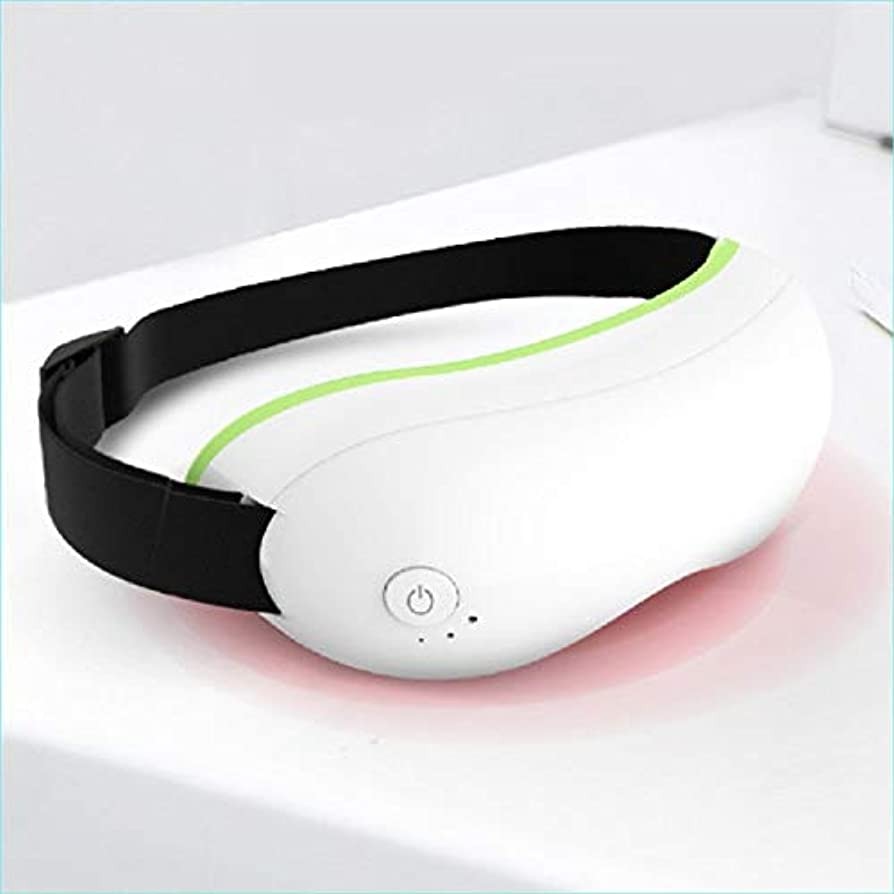 瞑想フォーム商品Meet now 暖房付きの高度な充電式ワイヤレスインテリジェント振動アイマッサージ 品質保証 (Color : White)