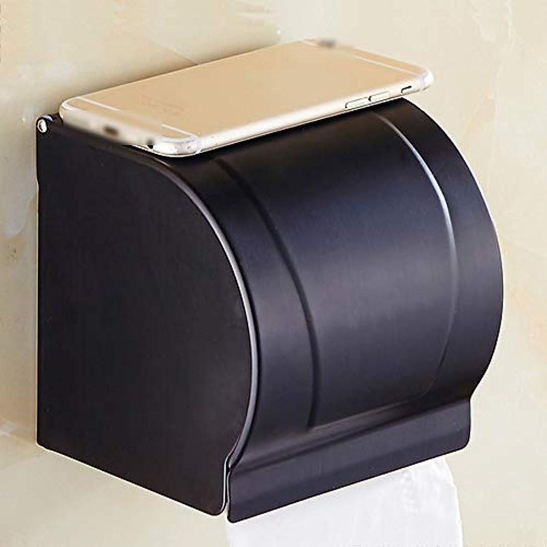 ほかにホット美容師ZZLX 紙タオルホルダー、フル銅ブラックアンティーク防水ロールホルダートイレットペーパーホルダー ロングハンドル風呂ブラシ (色 : Black ancient, サイズ さいず : 1#)