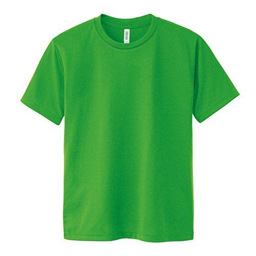 (グリマー) glimmer 4.4オンス ドライTシャツ(クルーネック) 00300-ACT 194 ブライトグリーン 04 LL