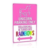 m-mount Tin Signsヴィンテージ駐車場warns offenders will虹子になり装飾Funメタル壁sign12X 8インチ