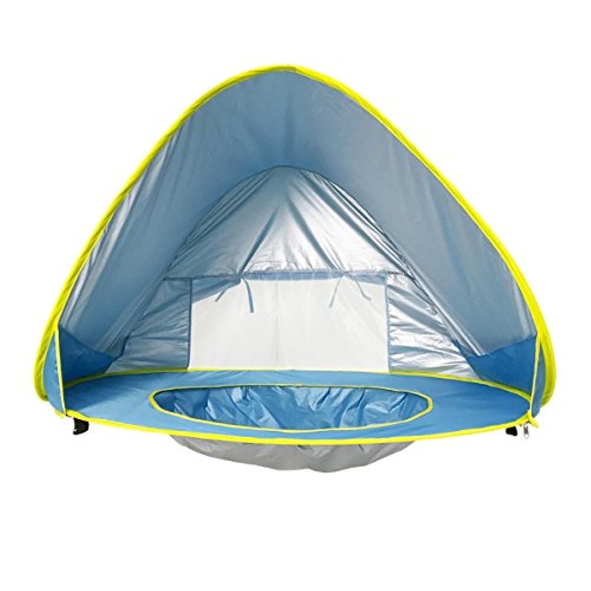 アシスト朝食を食べるショットLWT 子供たちはテントを再生する自動ビルドビーチプール赤ちゃんUVプロテクション(青47.2 * 31.5 * 27.5インチパッキング1)