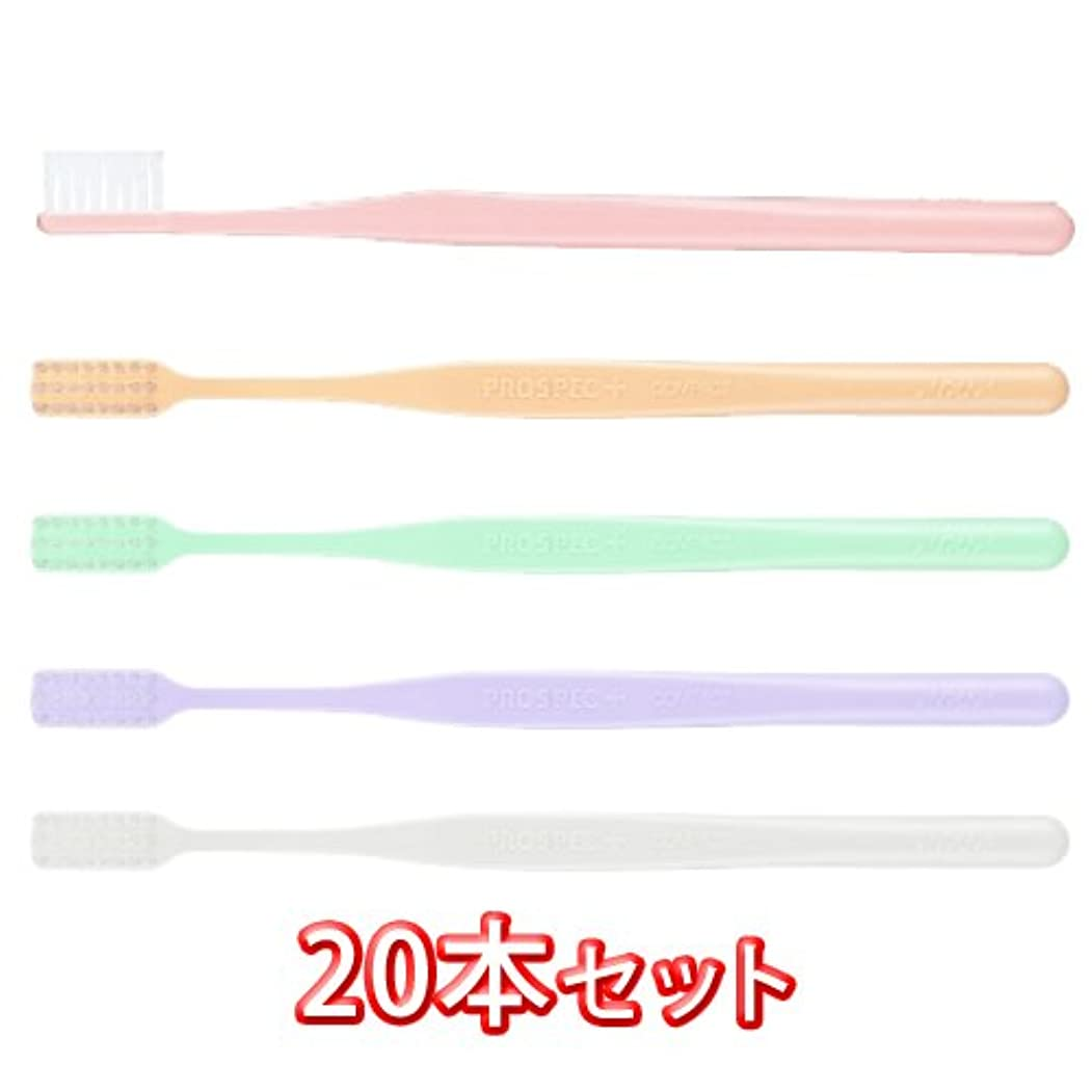 見分けるバイソン複雑なプロスペック 歯ブラシ プラス コンパクト 20本入 (M(ふつう))