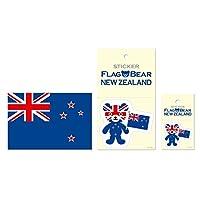 ムーングラフィックス ステッカー ポストカード 国旗 ニュージーランド SET57