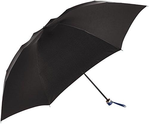 (ムーンバット)MOONBAT ランバン オン ブルー 紳士折りたたみミニ傘 無地 手開き式 21-084-07150-05 15-60 ブラック 親骨の長さ 60cm