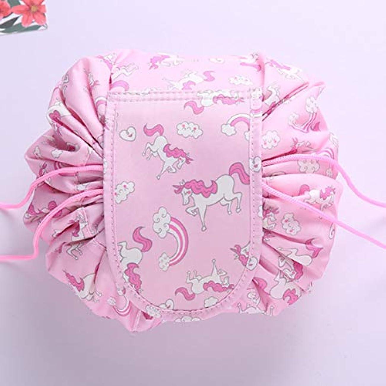 ヘルシー海軍ゴネリルQuzama-JS 満足新しい女性ユニコーン化粧品バッグニモロープロープ化粧品プロフェッショナルプロケースケース旅行rtifactラッカーバンドルバッグ