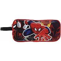 マーベル スパイダーマン ポーチ ペンポーチ 筆箱 ペンケース 化粧ポーチ コスメポーチ キッズ 男の子 プレゼント ギフト 筆記用具 雑貨 アメリカン かっこいい MARVEL SpiderMan アメコミ ヒーロー