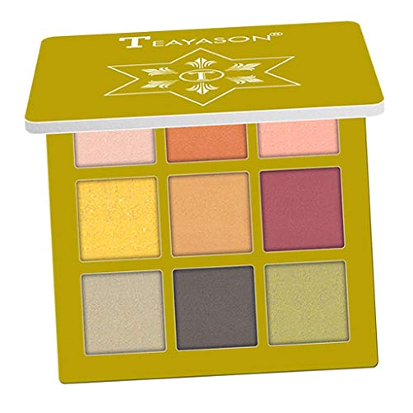 季節香水レイアイシャド ウパレット マット 高着色 長持ち 防水 アイシャドウ アイメイク 全10色 - ゴールデン