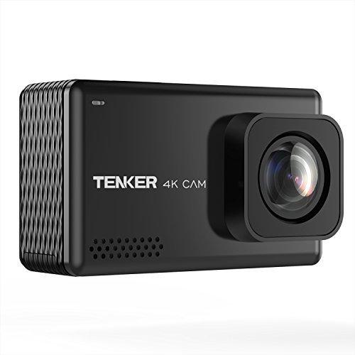 TENKER 4K アクションカメラ 2.45インチ 液晶タッチディスプレイ 日本製SONYセンサー使用 手ぶれ補正 170度広角レンズ 1080P 1600万画素 30m防水可能 WiFi機能搭載 HDMI出力 視角調整可能 メーカー12ヶ月安心保証 水中カメラ スポーツカメラ ウェアラブルカメラ バイク/自転車/車に取り付け可能 「TENKER EX7000 PRO」 (ブラック)