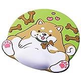 エレコム マウスパッド アニマルマウスパッド リストレスト付き もぐもぐでっぷり イヌ MP-AN02DOG
