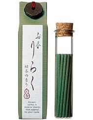 お香 りらく 緑茶 15本入