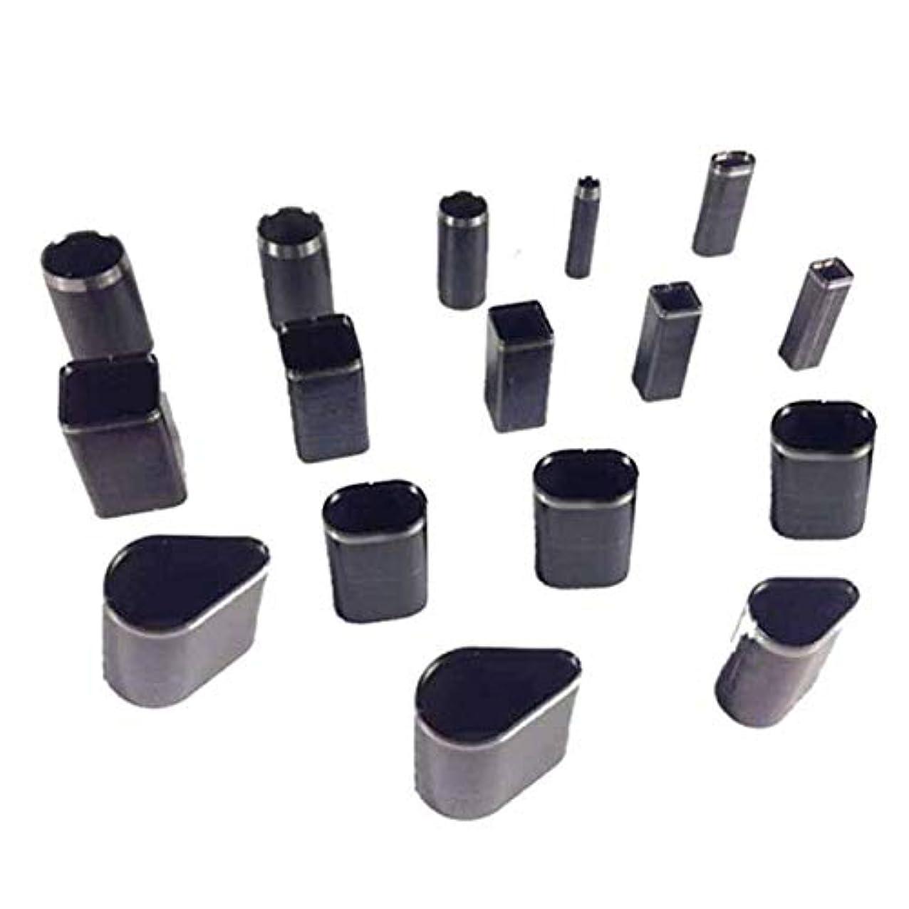 役職プレゼンター続けるCUHAWUDBA 革切削工具 16個の型 穴 中空パンチカッターセット 革クラフトDiyツール ハンドメイドジェネリック用