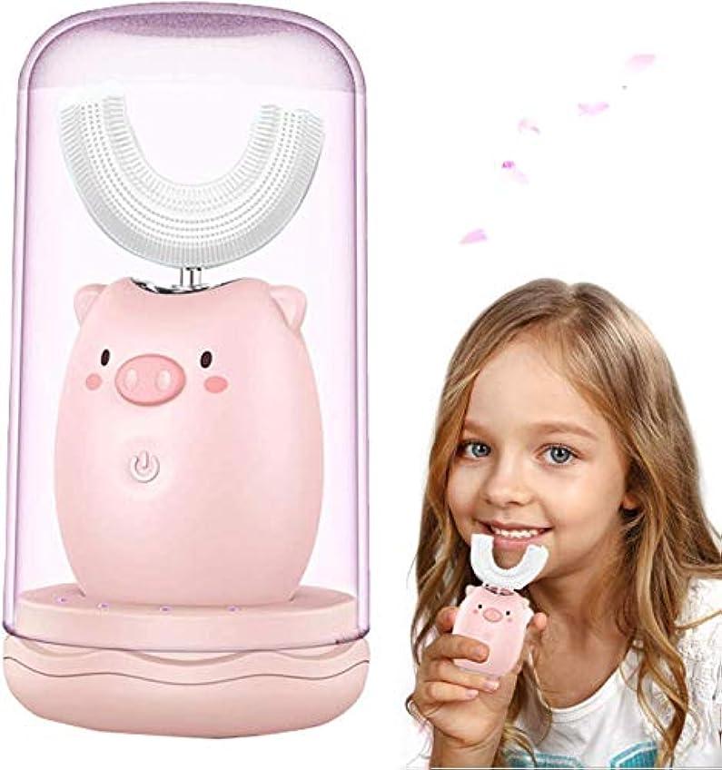 ギャップ所得大量2?6歳の子供と子供、紫外線消毒、うがいカップ用に設計された子供用電動歯ブラシの柔らかい髪| 低ノイズ