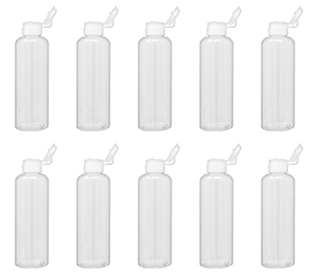 妻不従順荒廃するAimax【A-200NH-W-10】日本製 詰め替え容器 10本セット 200ml 透明 プラスチックボトル 白ヒンジ(ワンタッチキャップ) 旅行グッズ