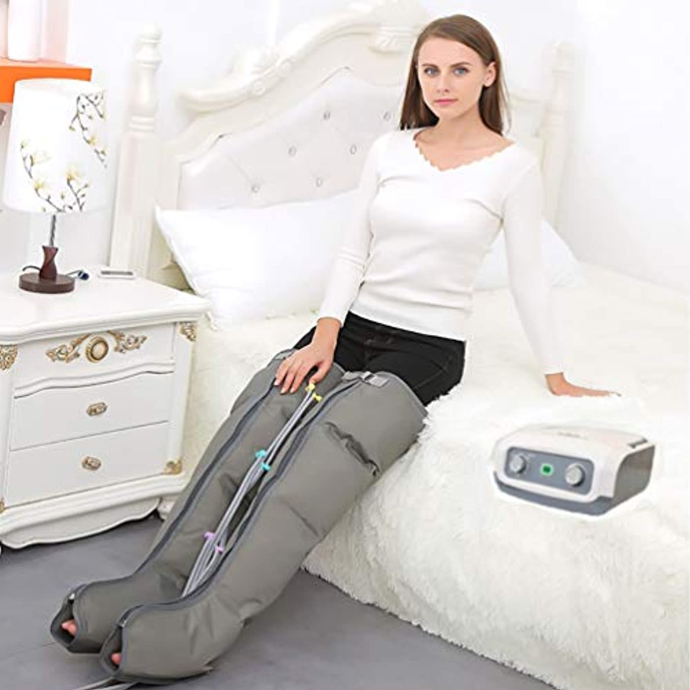 笑幼児キノコ足のふくらはぎ循環ブースターマッサージ療法4キャビティ高齢者の足のマッサージのための空気圧縮脚マッサージ機,doubleLowerlimbs